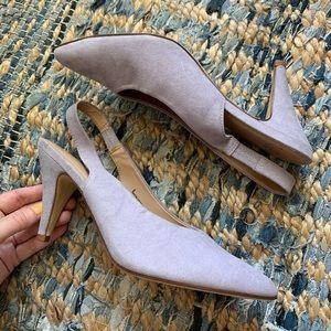 Size 9 A New Day Purple Slingback Heels